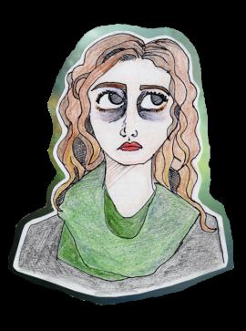 2016, Another Sad Girl//Faber Castel Classic Colour Pencils