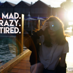 mad crazy tired. (when recovering is not glamourus).